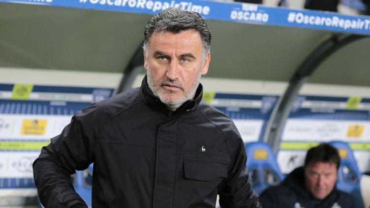 L'entraîneur de l'ASSE, Christophe Galtier (PASCAL POCHARD-CASABIANCA / AFP)