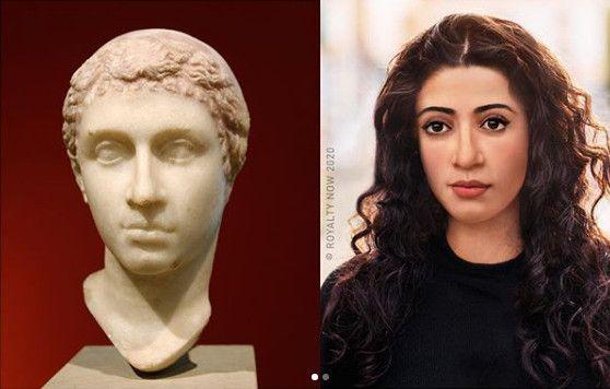 La reine d'Egypte Cléopâtre VII, imaginée au XXIe siècle. (© Royalty Now 2020)