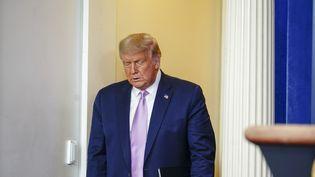 Le président américain Donald J. Trump, le 11 août 2020 à la Maison Blanche. (EPA)