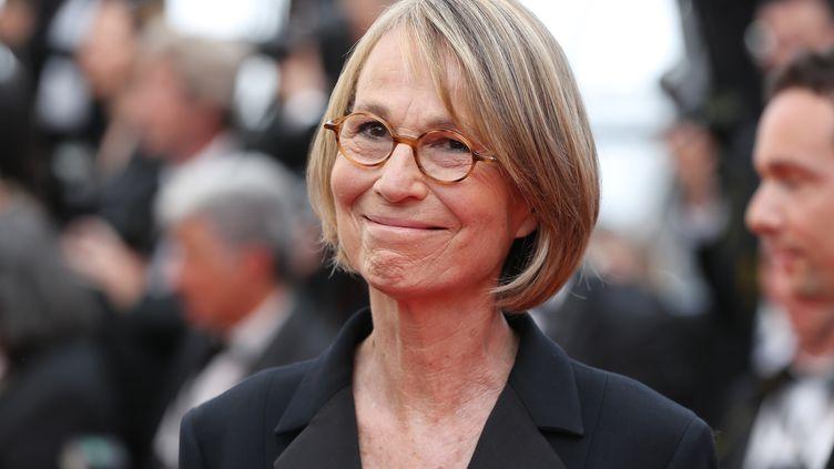 La ministre de la Culture, Françoise Nyssen, au Festival de Cannes (Alpes-Maritimes), le 8 mai 2018. (VALERY HACHE / AFP)