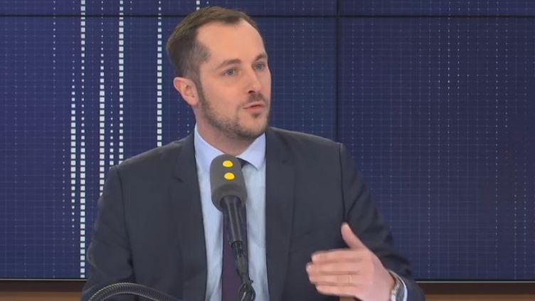 Nicolas Bay, député européen Rassemblement national, sur franceinfo, vendredi 31 janvier 2020. (FRANCEINFO / RADIOFRANCE)