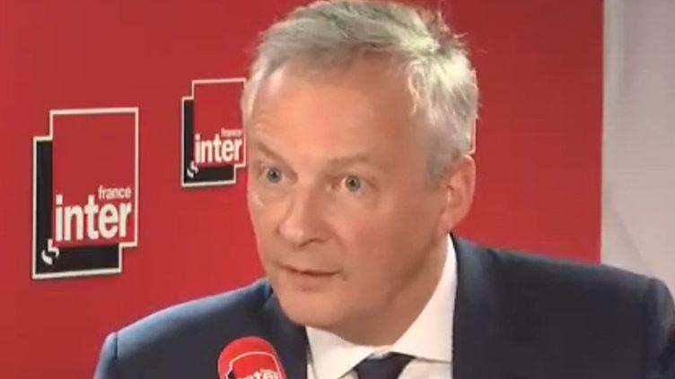 Bruno Le Maire, ministre de l'Économie et des Finances, le 18 juillet 2019 sur France Inter. (FRANCE INTER / RADIOFRANCE)