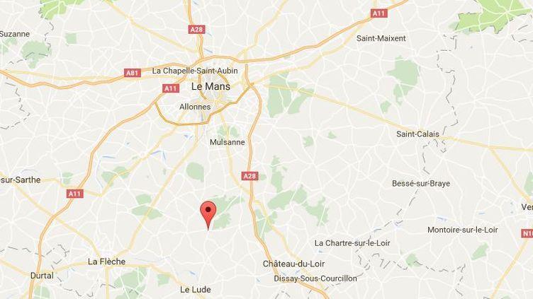 Les voleurs se sont rendus auprès de la gendarmerie dePontvallain (Sarthe), le 26 septembre 2016. (GOOGLE MAPS)