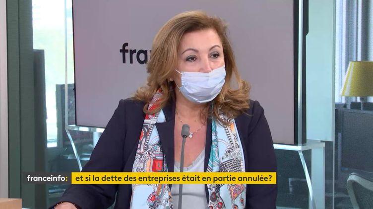 Sonia Arrouas, présidente de la Conférence générale des juges consulaires de France, était l'invitée éco de franceinfo jeudi 15 avril. (FRANCEINFO / RADIOFRANCE)