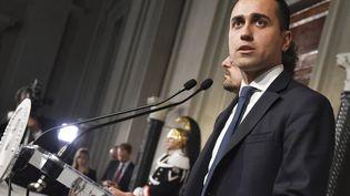 Luigi di Maio, vice-Premier ministre italien et chef de file du Mouvement 5 Etoiles, ici le 14 mai 2018. (ANDREAS SOLARO / AFP)