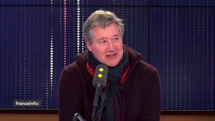 Patrick Sabatier le 15 janvier 2019 sur franceinfo. (FRANCEINFO / RADIOFRANCE)