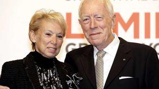Max von Sydow et son épouse lors de l'inauguration du Festival  (FAYOLLE PASCAL/SIPA)