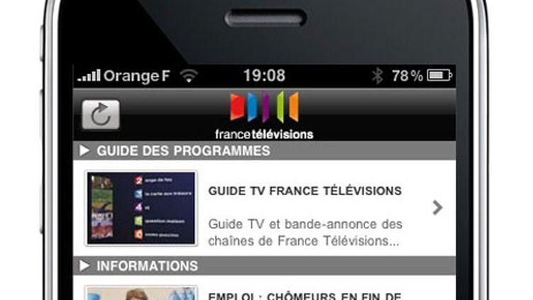 L'application iPhone pour France Télévisions