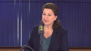 Agnès Buzyn, candidate à la mairie de Paris et ex-ministre de la Santé, sur franceinfo vendredi 6 mars 2020. (FRANCEINFO / RADIOFRANCE)