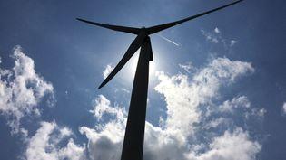 Éolienne à Plomodiern dans le Finistère (illustration). (RÉGIS HERVÉ / RADIO FRANCE)