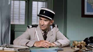 """L'acteur Louis de Funès, dans le film """"Le gendarme en balade"""", en 1970. (SOCIETE NOUVELLE DE CINEMATOGRAP / AFP)"""