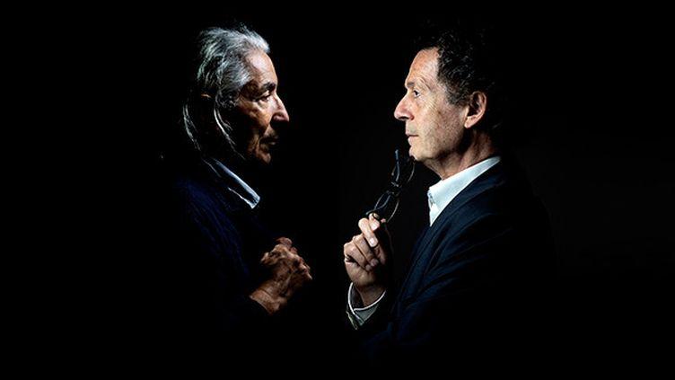 Hédi Kaddour et Boualem Sansal  (Joël Saget/AFP)