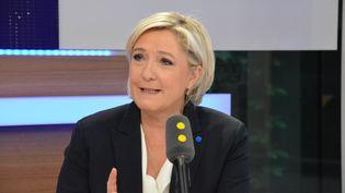 Marine Le Pen,candidate du FN à l'élection présidentielle. (RADIO FRANCE / JEAN-CHRISTOPHE BOURDILLAT)