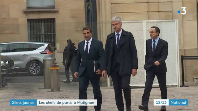 """""""Gilets jaunes"""" : Édouard Philippe reçoit les chefs de partis"""