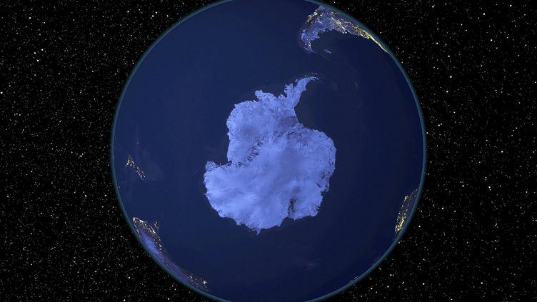 Vue satellite de l'Antarctique. (NASA / NOAA / NAS / AFP)
