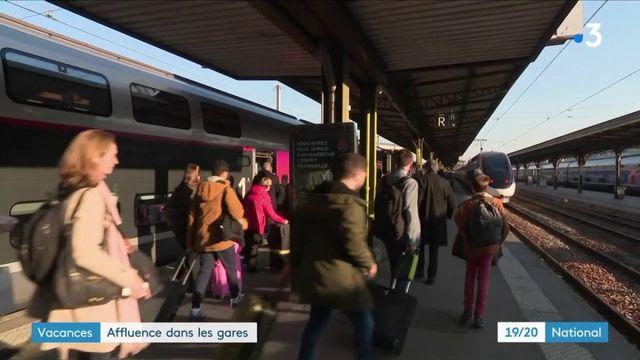 Vacances : les gares rencontrent une forte affluence