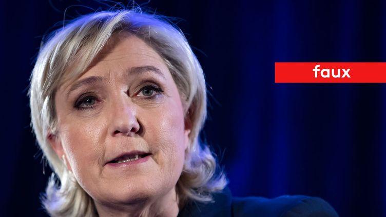 Marine Le Pen affirme que les logements sociaux sont prioritairement attribués aux immigrés (MAXPPP)