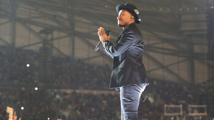 Soprano a enflammé le stade Vélodrome à Marseille samedi 7 octobre.  (PHOTOPQR/LA PROVENCE/MAXPPP)