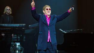 Elton John, lors d'un concert à L'Olympia, à Paris, le 5 février 2016. (DAVID WOLFF - PATRICK / REDFERNS)