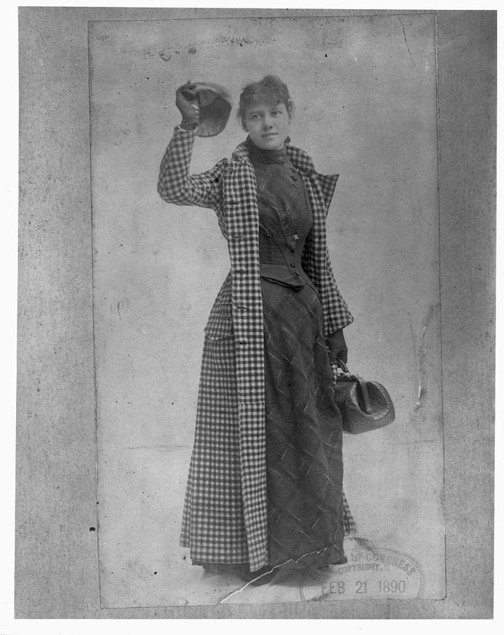 Nellie Bly, avant d'effectuer son tour du monde, en 1889. (LIBRARY OF CONGRESS / CORBIS HISTORICAL)