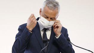 Le ministre de l'Economie et des Finances, Bruno Le Maire, le 29 octobre 2020 à l'hôtel de Matignon, à Paris. (IAN LANGSDON / AFP)
