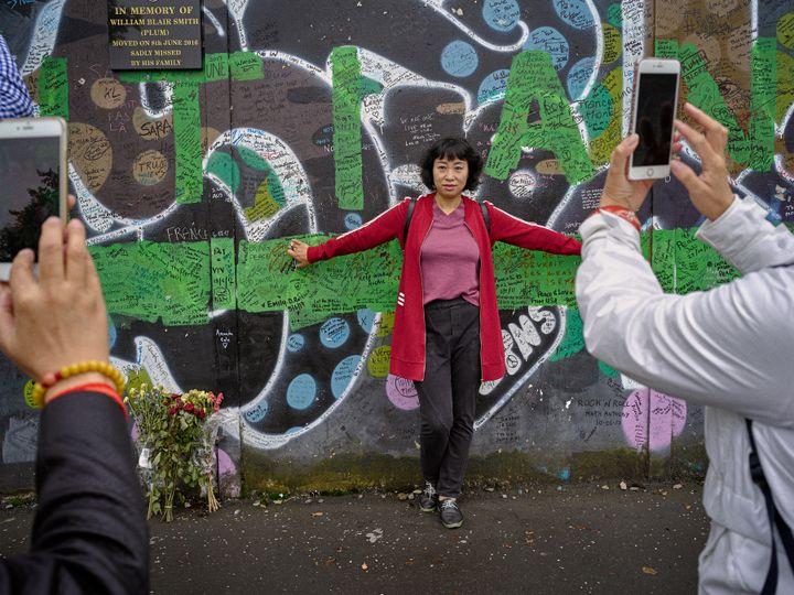 Mur de la paix, côté loyaliste, nord de l'Irlande, 2017 (© Gilles Peress)