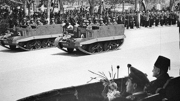 Défilé de l'indépendance. Damas 30 avril 1946. L'indépendance syrienne est devenue effective le 17 avril. (AFP)