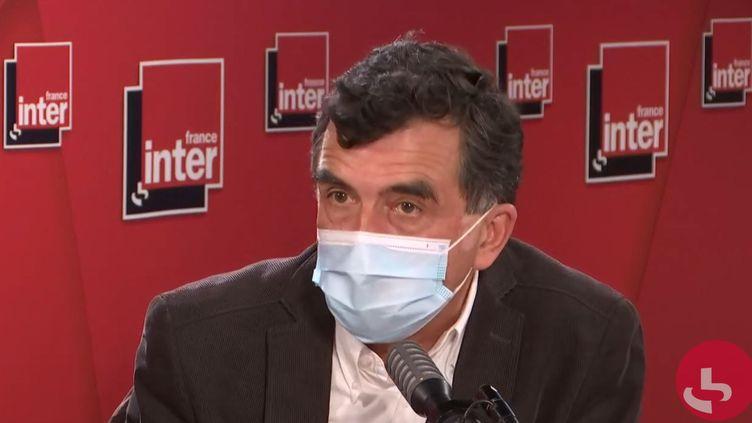 Arnaud Fontanet, membre du conseil scientifique Covid-19 et épidémiologiste, sur France Inter le 5 octobre 2020. (FRANCEINTER / RADIOFRANCE)