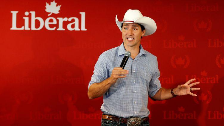 Le Premier ministre canadien Justin Trudeau lors d'un événement du parti libéral, le 13 juillet 2019 à Calgary (Canada). (TODD KOROL / REUTERS)
