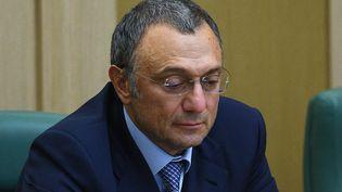 Le sénateur milliardaire russe Souleïman Kerimov, le 27 septembre 2017 à Moscou (Russie). (VLADIMIR ASTAPKOVICH / SPUTNIK / AFP)