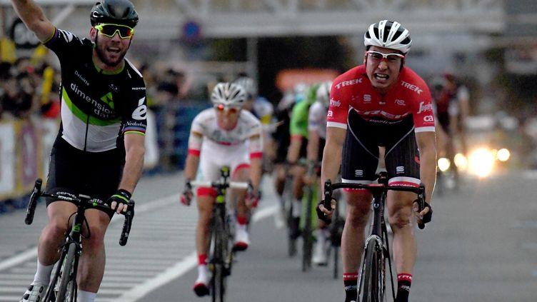 Mark Cavendish lors du Critérium de Saitama (Japon). (TOSHIFUMI KITAMURA / AFP)