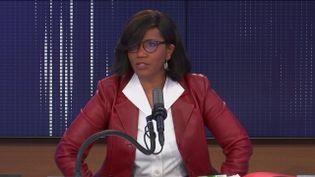 Élisabeth Moreno,ministre déléguée chargée de l'Égalité entre les femmes et les hommes, de la Diversité et de l'Égalité des chances, samedi 20 février sur franceinfo. (FRANCEINFO / RADIOFRANCE)