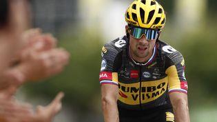 Primoz Roglic aremporté la 11e étape du Tour d'Espagne mercredi 25 juillet. (BENOIT TESSIER / AFP)