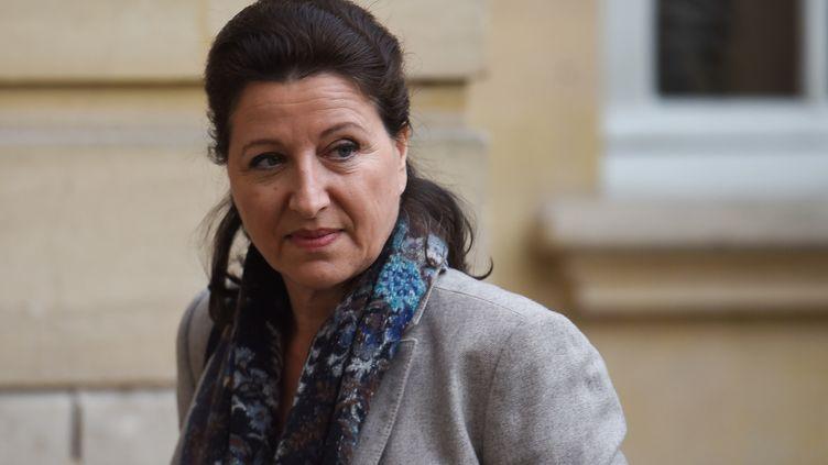 La ministre de la Santé Agnès Buzyn, le 26 janvier 2020 à Matignon (Paris). (LUCAS BARIOULET / AFP)