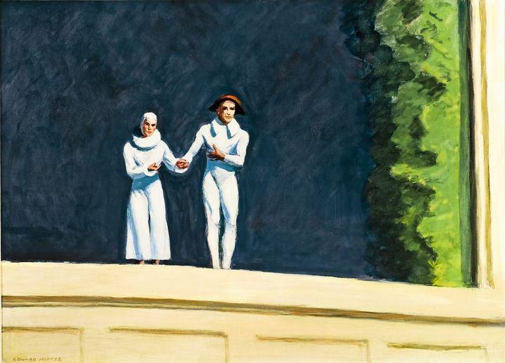 Edward Hopper, Two Comedians, 1966  (Collection particulière)