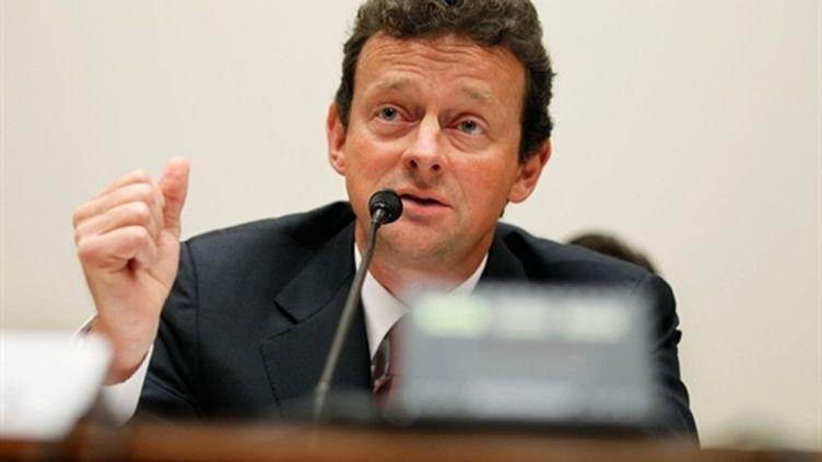 Le directeur général de BP, Tony Hayward, mis à mal par sa gestion de la marée noire dans le Golfe du Mexique. (AFP/ALEX WONG/Getty Images)