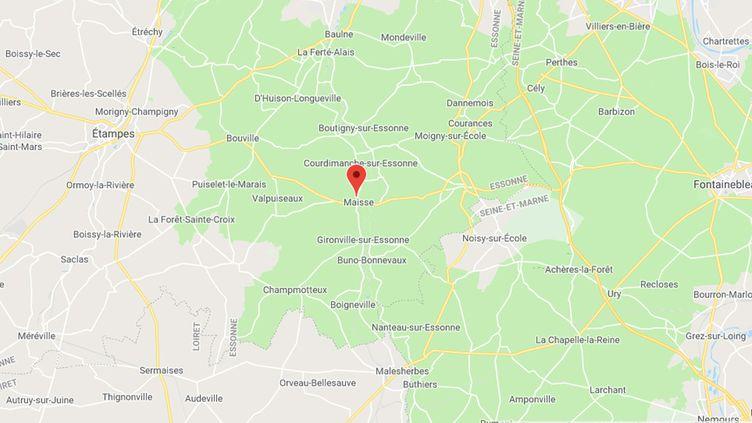 Maisse, dans l'Essonne. (CAPTURE D'ECRAN GOOGLE MAPS)