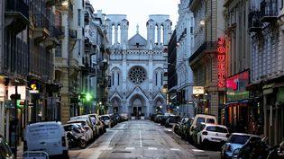 La basilique Notre-Dame de l'Assomption, à Nice, le 17 mars 2020. (MAXPPP)
