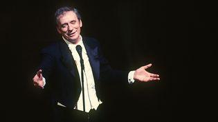 Yves Montand lors d'une représentation à l'Olympia à Paris en 1981. (AFP)