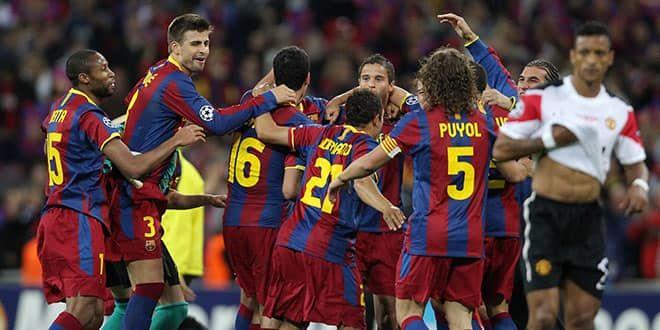 Manchester United et Nani sont impuissants face à ce Barca là en finale de Ligue des champions 2011