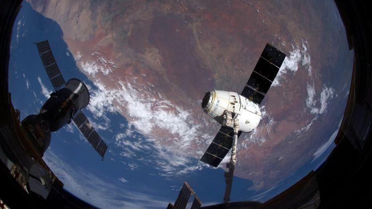 La terre vue de la station spatiale internationale, le 21 mars 2017. (THOMAS PESQUET / MAXPPP)