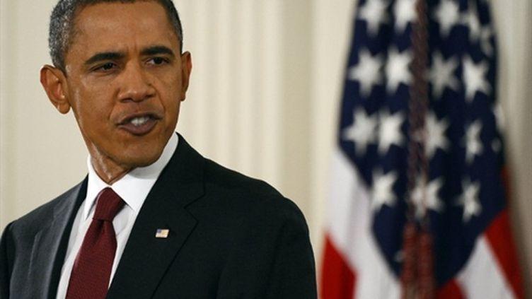 Le président américain Barack Obama lors de sa première conférence de presse après le scrutin de mi-mandat (03/11/2010) (AFP/Jewel Samad)