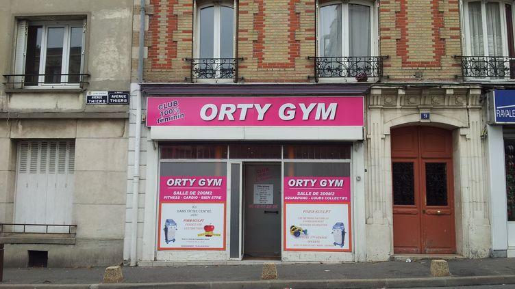 Le club de fitness réservé aux femmes Orty Gym, au Raincy (Seine-Saint-Denis), le 1er octobre 2013. (NORA BOUAZZOUNI / FRANCETV INFO)