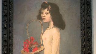 """""""Fillette à la corbeille fleurie"""", de Pablo Picasso. (FRANCE 2)"""