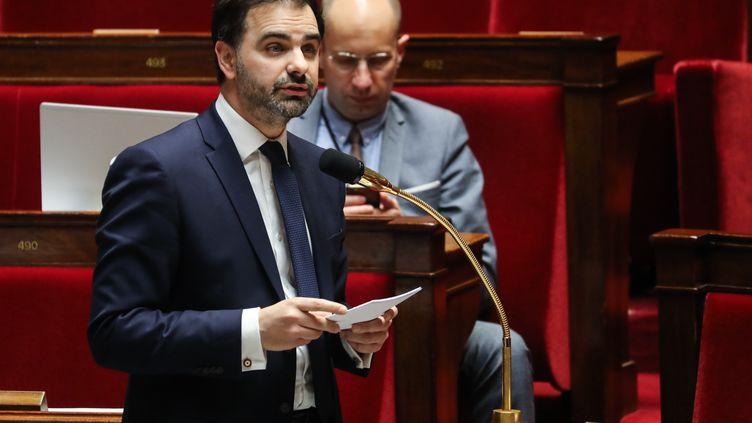 Laurent Saint-Martin, député LREM du Val-de-Marne et rapporteur général du budget à l'Assemblée nationale, le 20 mars 2020. (LUDOVIC MARIN / POOL)