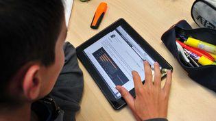 Les outils numériques sont de plus en plus utilisés au collège et au lycée (photo d'illustration). (PHOTOPQR / LE TELEGRAMME)