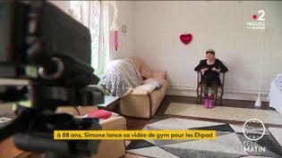 Simone lance sa vidéo gym pour les Ehpad. (France 2)