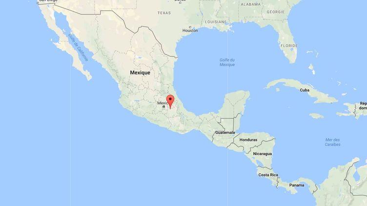 """Des hommes armés ont fait irruption dans cette clinique dans l'état de Puebla,où Jesus """"El Kalimba"""" Martin se faisait opérer, lundi 30 octobre. (GOOGLE MAPS / FRANCETV INFO)"""