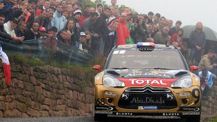 Sébastien Loeb au volant pour la dernière fois de la DS3 sur les routes d'Alsace
