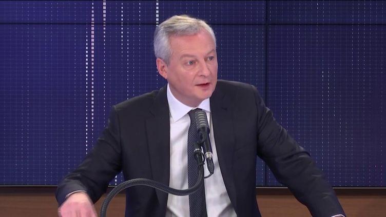 Bruno Le Maire, ministre de l'Économie, était l'invité de franceinfo lundi 14 décembre 2020. (FRANCEINFO / RADIO FRANCE)